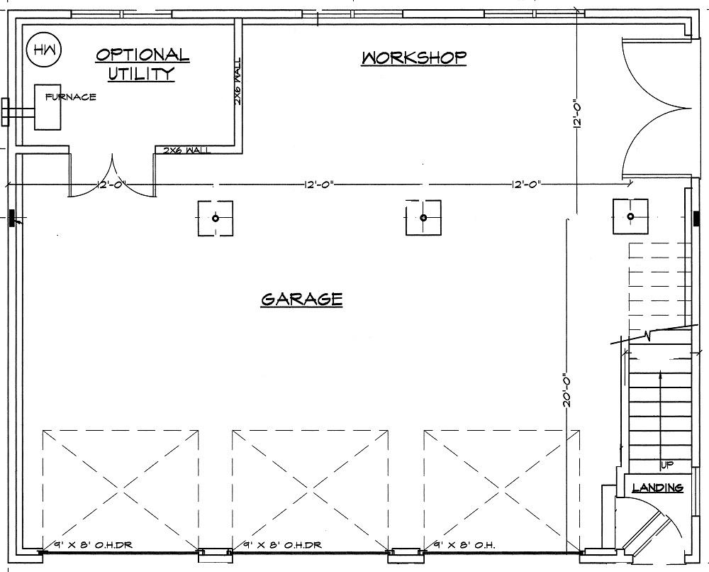 3 bay garage floor plans for Garage floor plans
